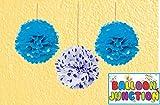 BALLOON JUNCTION Fluffy Decoration Blue ...