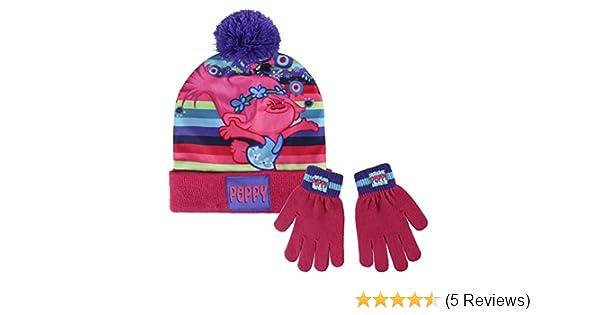Trolls 2200002452 Conjunto 2 Piezas Poppy Children s Winter Set Includes  Beanie Bobble Hat and Gloves e0023f468b48