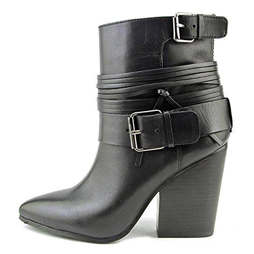 Vince Camuto Rhiannon Spitz Leder Mode-Stiefeletten Black