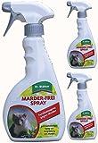 GARDOPIA Sparpaket: 3 x 500 ml Dr. Stähler Marderfrei-Spray Fernhaltespray + Gardopia Zeckenzange mit Lupe