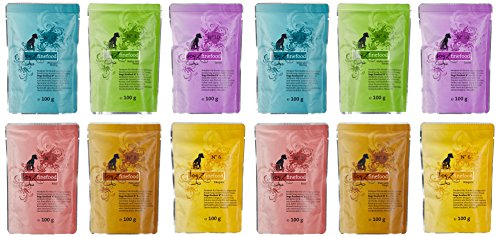 Dogz finefood Multipack Pouches 12 x 100 g, 1er Pack (1 x 1.2 kg)