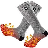 Warmer Calcetines Calefactables Hombres Mujeres 7.4V 2200MAH Baterías Recargable Calcetines de Algodón
