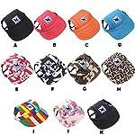 wuayi TAILUP Small Pet Casual Summer Canvas Cap Dog Baseball Visor Hat Puppy Outdoor Sunbonnet Cap (S, B) 6