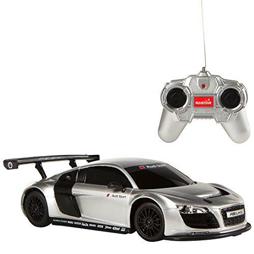 Rastar - 1 remote control car: 24 Audi R8, gray color (ColorBaby 85042)