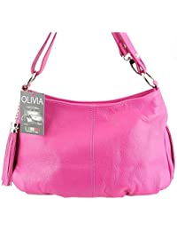 Olivia - Sac à main cuir rose/fushia N1379 Sac en cuir véritable Collections printemps-été