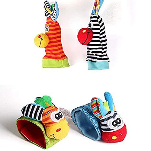 Tianzhiyi Baby Kleidung Baby Rassel Spielzeug Niedlichen Tier Infant Soft Wrist Bell Strap Rasseln Und Socken Set Für Kinder - Socke-tier-mustern