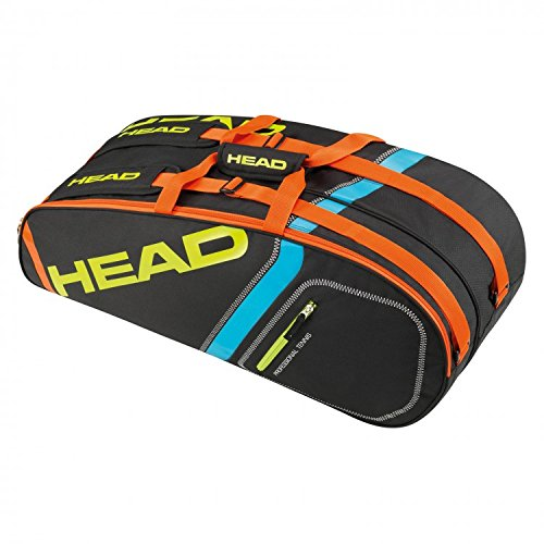Head Core - Borsa per 6 racchette, Core, nero/giallo
