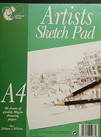160Blatt Qualität 80g/qm Zeichenpapier A4/2Pk von 80
