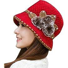 Screenes Sombrero De Campana De De Moda La Señoras Invierno Cálido Estilo  Simple De Punto De 17e795221745