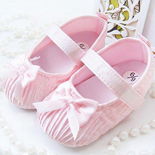 ROPALIA Baby M?dchen schuhe weichen Boden Klettschuhe Prewalker Pink
