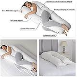 12FT Big U almohada de maternidad Almohada/embarazo/U forma/máximo apoyo U almohada