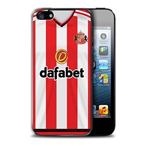 Offiziell Sunderland AFC Hülle / Case für Apple iPhone 5/5S / Pack 24pcs Muster / SAFC Trikot Home 15/16 Kollektion Fußballer