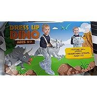 Kids Dress Up Green T-Rex Dinosaur Costume 3-7 Years