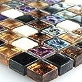 Glas Marmor Mosaik Fliesen Bunt Mix Perlmutt Effekt 15x15x8mm von Mosafil bei TapetenShop