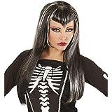 Widmann 00822 - Peluca Skeletria, negro, con rayas blancas