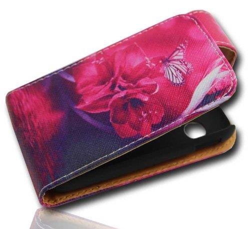 Handy Tasche Case Flip für Samsung Galaxy Y GT-S5360 / Hülle Etui Handytasche Schutzhülle JS M21