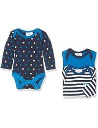 Twins Unisex Baby Bodysuit, Longsleeve, 3-Pack