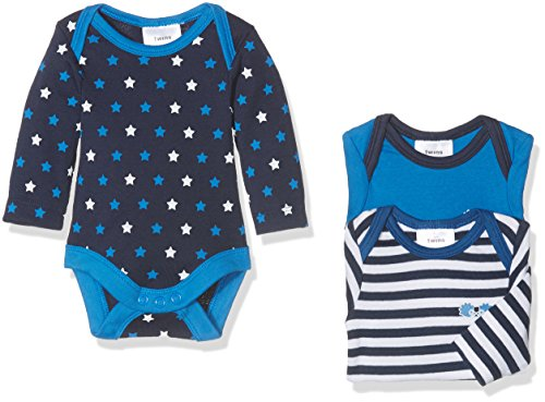 Twins Baby-Jungen Body Sternchen, 3er Pack, Blau (Marine 3011), 68