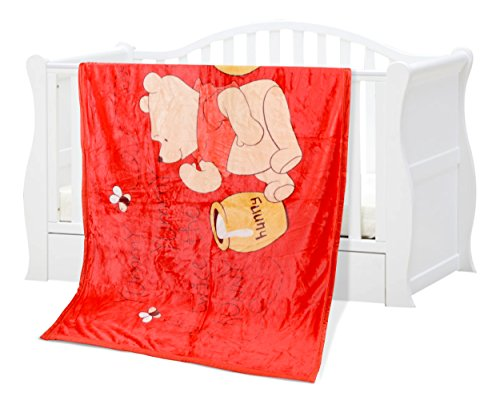 Baby Grow Kids Polar Fleece Blanket (Red Honey Bear)