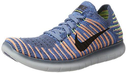 Nike Unisex-Kinder Free Rn Flyknit Hallenschuhe Mehrfarbig (Ocn Fg/Black-Pl Gry-Ghst Grn)