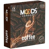 MOODS Coffee Condoms - 3 Kondome mit Kaffee-Aroma, Geschenk-Idee für Männer preisvergleich bei billige-tabletten.eu