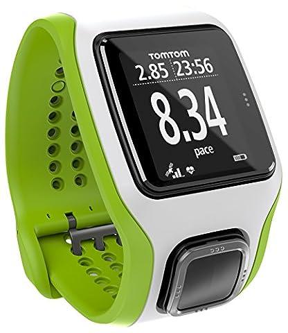 Montre GPS TomTom Multi-Sport Cardio Vert/Blanc (1RH0.001.04)