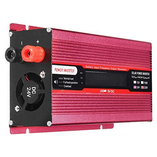 1800W DC 12V / 24V zu Wechselstrom 220V / 110V Solarenergie-Inverter geänderte Sinus-Wellen-Spannungs-Anzeige LCD - 24V-220V -