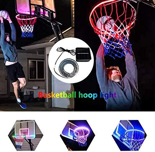 ASPORT LED-Leuchten Basketballkorb, Luminous Basketball Box Beleuchtung Kit, Basketball Rim LED Solar Light Glow In The Dark Rim Lichter Swish