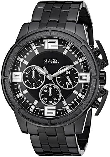 Guess Men's Stainless Steel Bracelet Watch, Color Black (Model: U1114G1)