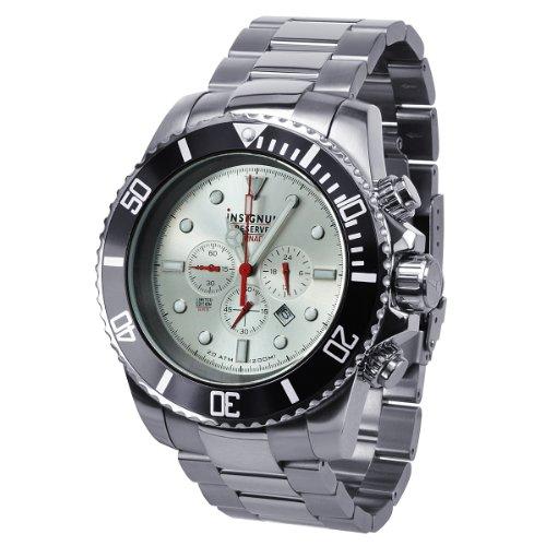 Insignum Herren-Armbanduhr XL Tornado stahl Chronograph Quarz Edelstahl IP212374