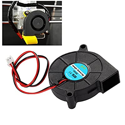 UEETEK DC 12V Lüfter für 3D Drucker, Turbine Gebläse Heizkörper Lüfter, Ausgezeichnet für die Kühlung Kühlkörper auf Hot End, 3D Drucker Zubehör