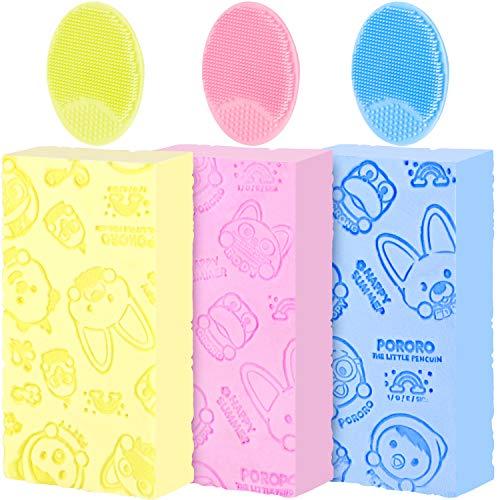 3 Piezas Esponja Exfoliante Suave Esponja Baño Dibujos