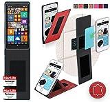 Funda para Nokia Lumia 930in Rojo Cuero - Innovadora Funda 4 en 1-Anti-Gravedad para Montaje en...