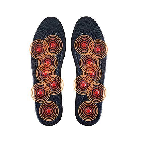 Potok Magnetische Einlegesohlen, Premium Akupressur Schuh Fuß Massageeffekt Einlagen Gesundheits Anti-Schweiß-Komfort Fördern Sie Blutzirkulation und Körperstoffwechsel