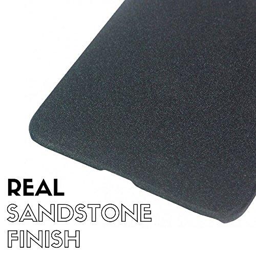 Tarkan QuickSand Moto G4 PLAY Case: Matte Slim Hard PC Bumper Back Cover For G Play 4th Gen. [Sandstone Black]