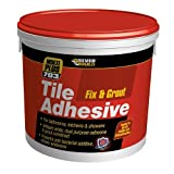 Everbuild FIX02 Fix and Grout 703 - Colla per piastrelle, 2,5 l, 3,75 kg