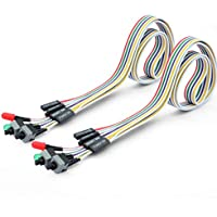 56Tiankoou 2Pcs PC Power Reset Switch HDD LED Cable Light Wire Kit Assembly for Computer
