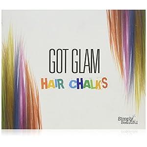 Got Glam- Juego de tizas para el pelo para niños y adolescentes – 24 tizas para teñido temporal, perfecto para Halloween, fiestas y mucho más