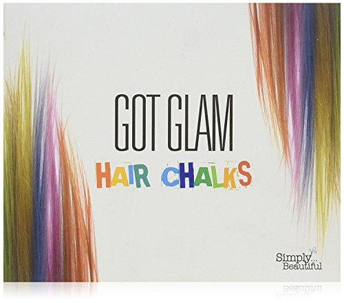 Got Glam - Haarkreide-Set für Kinder & Teenager - auswaschbar und schnell einsetzbar - ideal für Fasching, Halloween, Partys und Festivals - 24 Farben