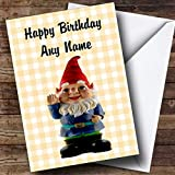 Cute Smiling Gnome Personalised Birthday Card