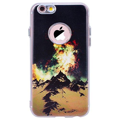 WE LOVE CASE Coque iPhone 6, Souple Gel Coque iPhone 6S Silicone Motif Fine Coque Girly Resistante, Coque de Protection Bumper Officielle Coque Apple iPhone 6 iPhone 6S Bleu Noir