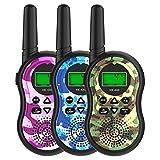 FAITHPRO 3 Pack Walkie Talkies, 2 Way 22 Channels Radio Toy, 3 Miles