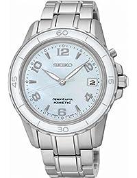Seiko Damen-Armbanduhr Sportura Kinetic Analog Quarz Edelstahl SKA879P1