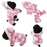 Pet Online Vestiti del cane una varietà di colori in autunno e inverno caldo morbido vestiti pet, cuore di pesche, XL