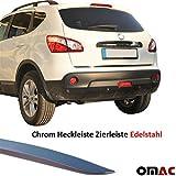Nissan Qashqai 2007-2014 Chrom Heckleiste Zierleiste aus %100 V2A Edelstahl