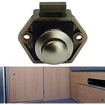 Demiawaking Durchmesser 20mm RV Kunststoff Push Lock für Regler Wohnwagen Wohnmobil Cupboar