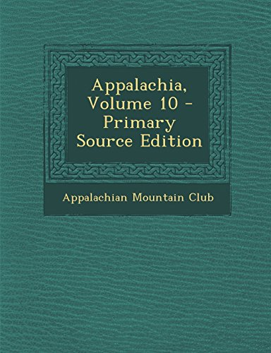 Appalachia, Volume 10