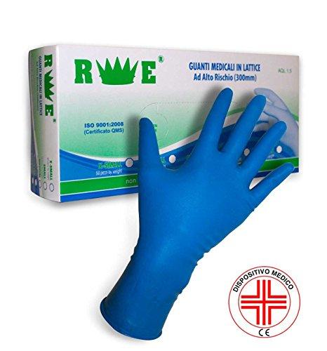 redelguanto Handschuhe Latex spessorato 300mm für Werkstatt und Zertifikate für Verwendung Arzt, M, 1 (Arzt Handschuhe)