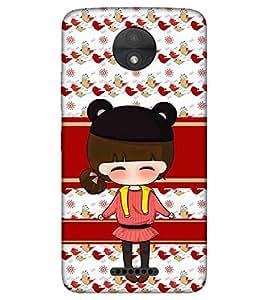 For Motorola Moto C cute girl ( cute girl, beautiful girl, girl, pattern ) Printed Designer Back Case Cover By CHAPLOOS