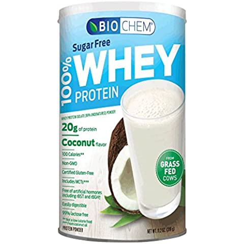 Country Life - Biochem Sugar - 100% WHEY Protein - COCONUT - Sugar Free - 20g of Protein(11.2